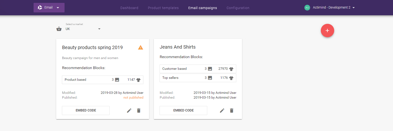 Email Recommendations - Email campaigns - Campaign preview